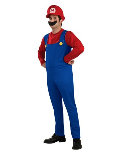 Rubie's Costume Co Men's Super Mario Brothers Costume with Hat