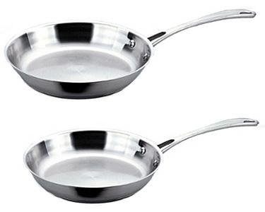 2-Piece Copper Clad Stainless Steel Fry Pans