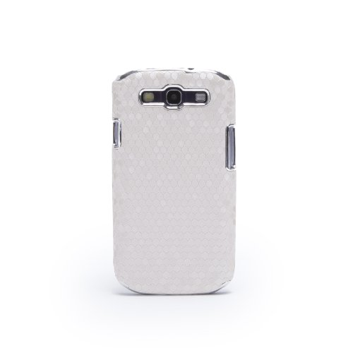 Doublju Luxury Fashionable Plastic Snap-on Hard Back Cover Phone Case SJK21-WHITE