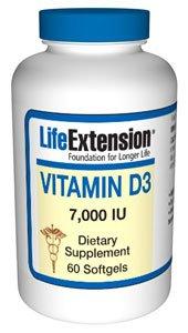 Life Extension - Vitamin D3 - 7000 Iu - 60 Caps (Pack Of 2)