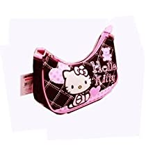 Sanrio Hello Kitty Handbag Black/Pink W/Bear