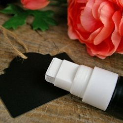 Jumbo Liquid Chalk Marker, Outdoor Use, Washable, White