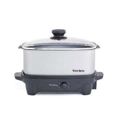 West Bend 84905 5-Quart Oblong-Shaped Slow Cooker from West Bend