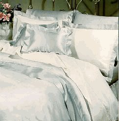Empress Silk Charmeuse Pillow Sham - Euro - Pearl Grey (Soft Blue)