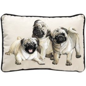 Pug Puppies Pillow