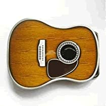 Acoustic Guitar Country Belt Buckle