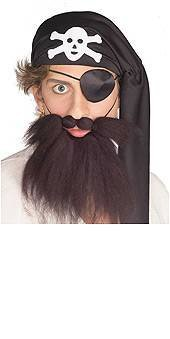 Rubie's Costume Co Pirate Beard & Moust.Set Costume White Costume