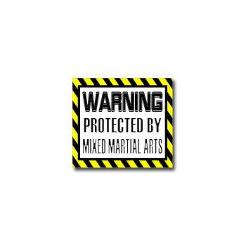 Warning Protected by MIXED MARTIAL ARTS - Window Bumper Sticker
