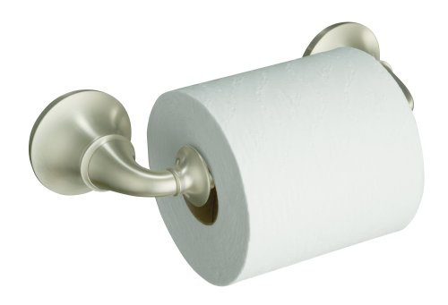 KOHLER K-11274-BN Forte Traditional Toilet Tissue Holder, Vibrant Brushed Nickel