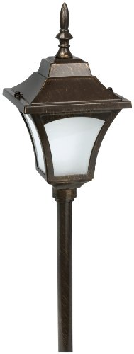Paradise GL22837RB Low Voltage Cast Aluminum 7-Watt Path Light with Frosted Lens, Rubbed Bronze