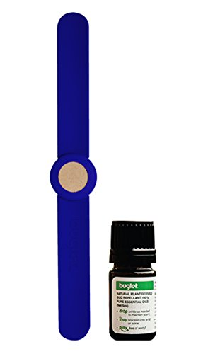 Mosquito Repellent Diffuser Slap Bracelet Kit for Kids by Buglet   Essential Oil Included   Blue