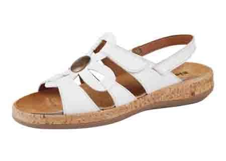 Damen Sandalen / Fashion Sandalen 2053 weiß Gr. 36