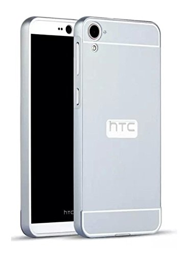 Higar Royal Metal Bumper with Acrylic Sheet Back Hard Cover Case For HTC Desire 826 - Silver