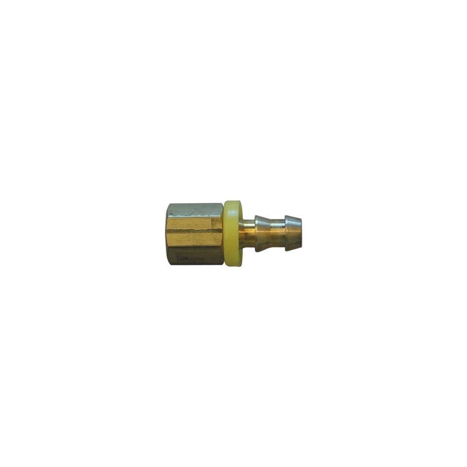 Interstate Pneumatics FL046 Easy Lock Brass Hose Fittings, Connectors, 1/4 Inch Push Lock Barb x 3/8 Inch Female NPT End