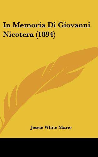In Memoria Di Giovanni Nicotera (1894)