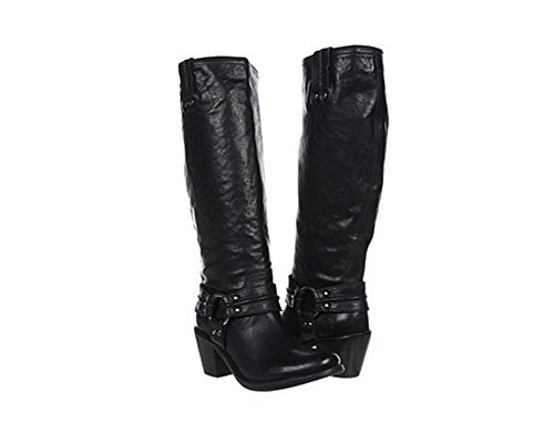 FRYE Women's Carmen Harness Tall Boot, Black Vintage Veg, 8.5 M US (Frye Carmen Harness Tall compare prices)