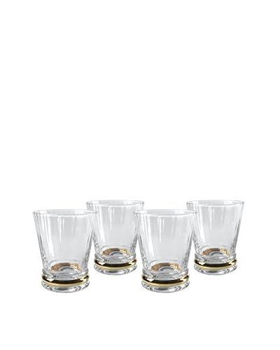 Artland Set of 4 Jewel 9-Oz.Double Old Fashioned Glasses, Gold