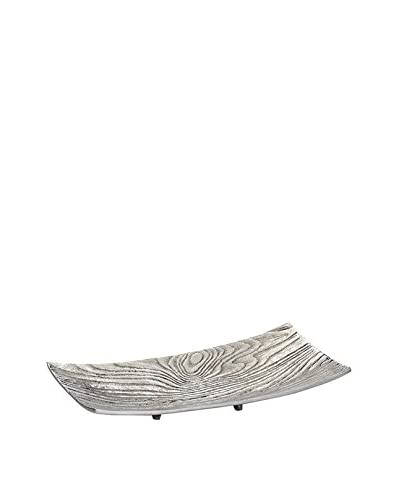 Torre & Tagus Small Aluminum Bark Rectangle Platter