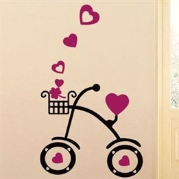 41012 Love Cycling / Bedroom Children'S Room Living Room Tv Backdrop Stickers Removable Wall Stickers Home Improvement front-831384