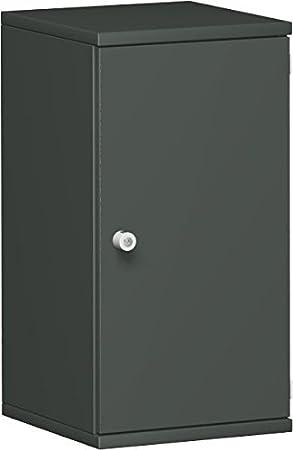 Ali porta armadio, ufficio, in legno, 1decorazioni a ripiano, serratura, serratura a sinistra, 400x 425x 768, grafite/grafite, Gera mobili
