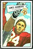 1952 Bowman Large (Football) Card# 69 James Hammond of the Dallas Texans VGX Condition