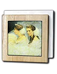 Ladies In Tiaras - 6 Inch Tile Napkin Holder by Florene