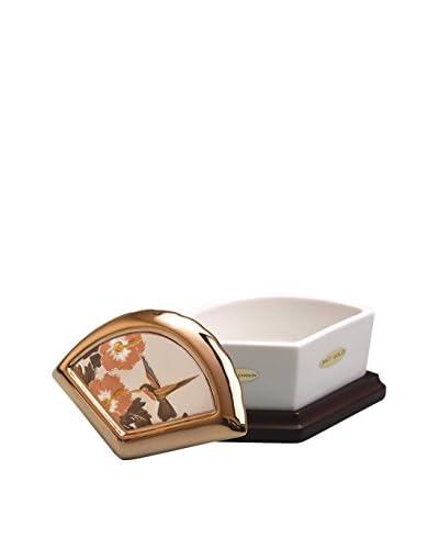 Dynasty Gallery Chokin Art Fan Plum Blossom Box, Ivory