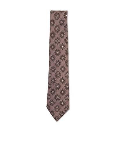 Kiton Men's Medallion Tie, Tan/Brown