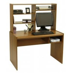 Computer Desk (City Oak) (50 1/4&quot;H x 40 5/8&quot;W x 23&quot;D)