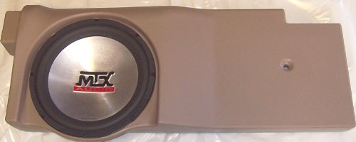 "Mtx Thunderform 2004-2008 F-150 Crew Cab/Ext Cab Tan 12"" Custom Unloaded Subwoofer Box / Bass Enclosure"