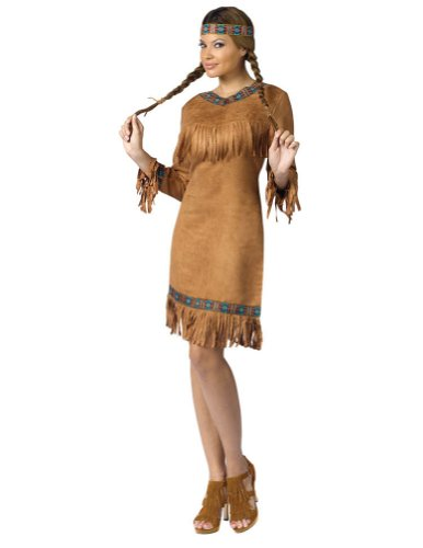 American Indian Woman Md-Lg Halloween Costume