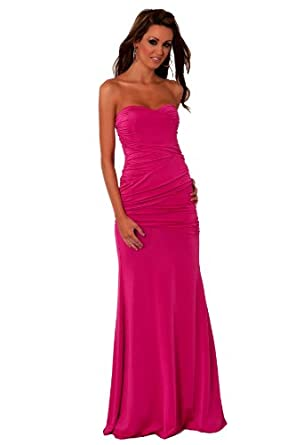 Strapless long designer evening gown sexy maxi cocktail for Amazon designer wedding dresses