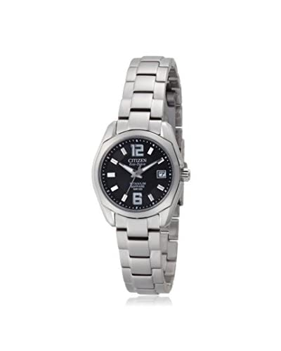 Citizen Women's EW2100-51A Eco-Drive Titanium/Black Watch