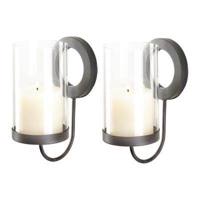 Elegant Sonoma Hurricane Pillar Candle Sconce Pair Set Reviews  sc 1 st  Wall Sconces & Wall Sconces: Elegant Sonoma Hurricane Pillar Candle Sconce Pair Set