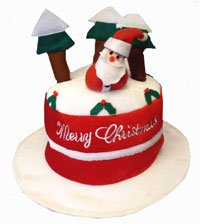 FANCY DRESS - HAT - CHRISTMAS CAKE
