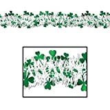 FR Metallic Shamrock Garland Party Accessory (1 count) (1 Pkg)