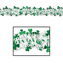 FR Metallic Shamrock Garland Party Accessory (1 count) (1/Pkg)