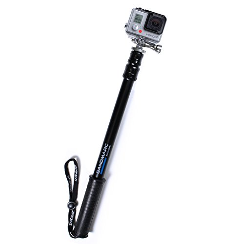 "Sandmarc Pole - Metal Edition: All-Aluminum 17-40"" Telescoping Extension Pole For Gopro Hero Cameras"