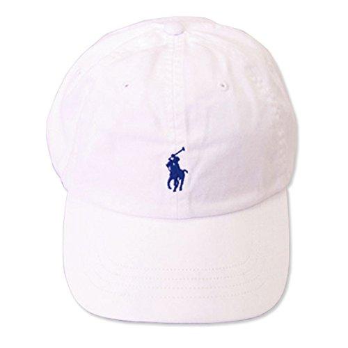 (ポロ ラルフローレン)POLO Ralph Lauren キャップ CAP 帽子 メンズ レディース PONY ポニー ワンポイント[並行輸入品] ホワイト×ネイビー -
