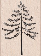 Winter Tree Wood Mounted Rubber Stamp (H5244)