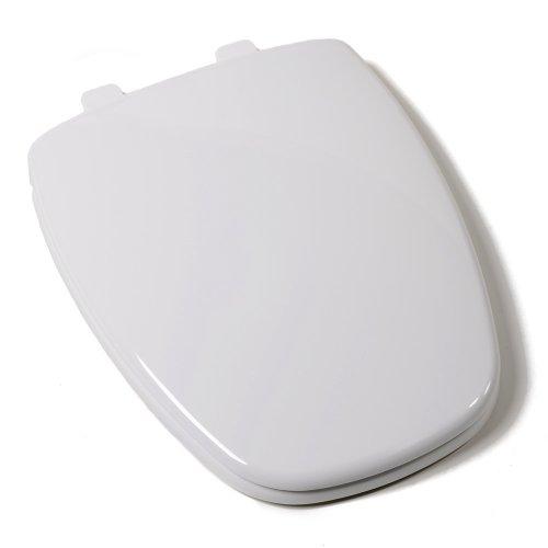 Comfort Seats C1B3E9S-00 EZ Close Premium Eljer New Emblem Design Plastic Toilet Seat, Elongated, White