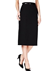 M&S Collection Knee Length Pencil Skirt with Belt