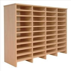 Tercel Post Room Sorter Hutch Add-on Double Height 4 Bay Can Fit 44 Shelves W1280xD360xH1145mm Beech
