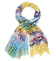 Limited Collection Lightweight Scenic Beach Print Scarf