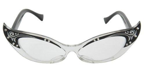 Elope Vintage Cat Eye Glasses (Black)