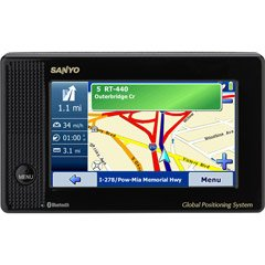 Sanyo NVM-4070 Easy Street Bluetooth 4.3-Inch Widescreen Portable GPS Navigator