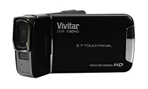 "Vivitar DVR 1080HD Touch Screen Camcorder - Black (12.1MP, 2.7"" Full Touch Screen, 4x Digital Zoom, Super Slim Body, Lithium Battery) by Vivitar"