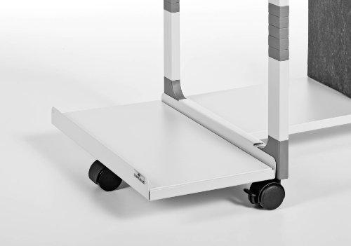Durable Carrello portacomputer - argento metallizzato/faggio - 3719-10