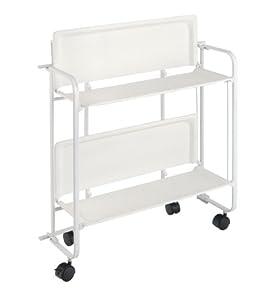 platex 600201001 table roulante pliante blanc eco cuisine maison. Black Bedroom Furniture Sets. Home Design Ideas