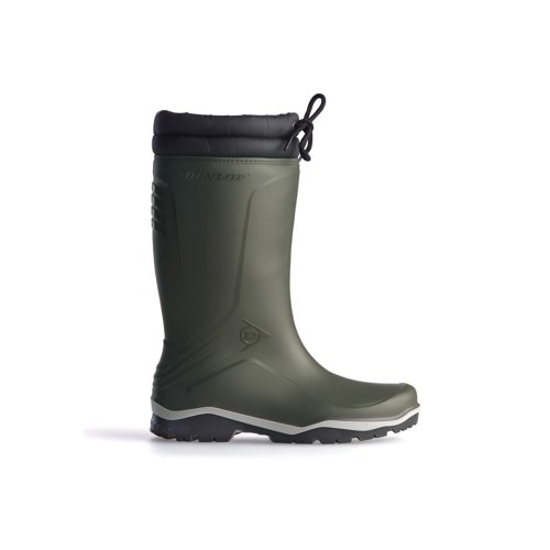Dunlop Blizzard Fur Lining Wellington Boots - Green/Black